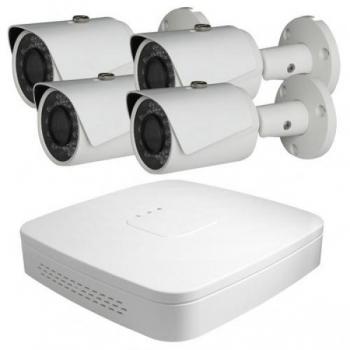 COL-IP4/4B  IP salvesti + 4 Full HD IR kaamerat