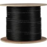 Cable RG59 + DC 200m (black)