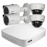 COL-IP4/4M  IP recorder + 2 Full HD IR cameras,2 dome cameras